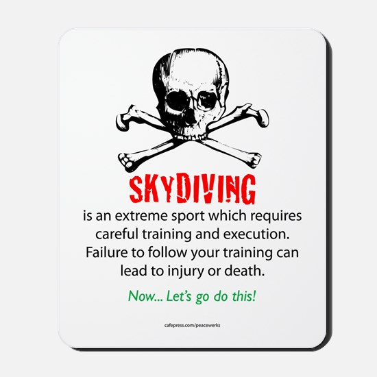 Skydiving Training Mousepad