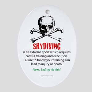 Skydiving Training Ornament (Oval)