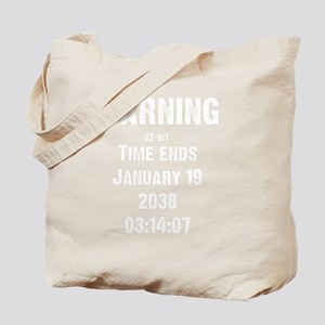time-ends-1-whiteLetters copy Tote Bag