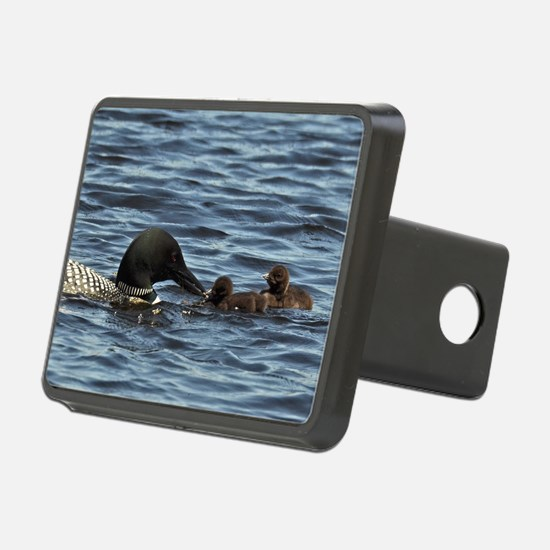 Loon feeding twins Hitch Cover
