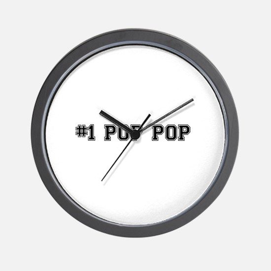 #1 Pop pop Wall Clock