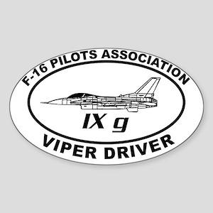 IXG F16 VIPER DRIVER Sticker (Oval)