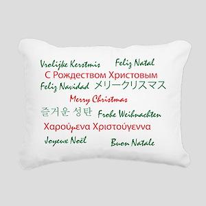 Christmaslanguge001 Rectangular Canvas Pillow