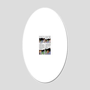 Santas Oopsie 20x12 Oval Wall Decal