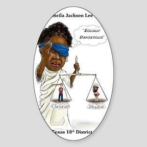 Congressman Sheila Jackson Lee Sticker (Oval)