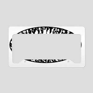 supDUDE_Black on White License Plate Holder