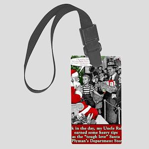 tough santa Large Luggage Tag