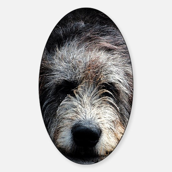 WolfhoundFace Sticker (Oval)