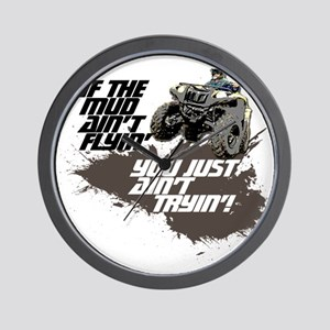 muddin atv Wall Clock
