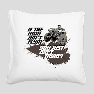 muddin atv Square Canvas Pillow
