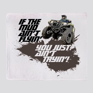 muddin atv Throw Blanket
