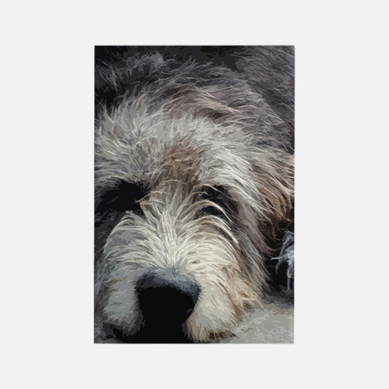 WolfhoundFace14x10_print Rectangle Magnet