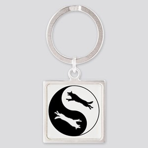 yinyang Square Keychain