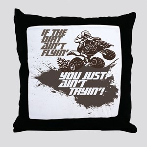 dirt flyin atv Throw Pillow