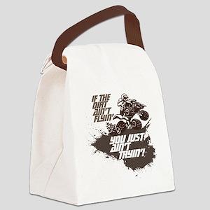 dirt flyin atv Canvas Lunch Bag