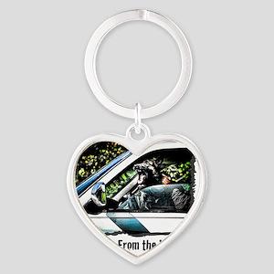 vehicle defense Heart Keychain
