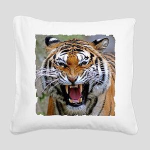 Atiger shirt Square Canvas Pillow