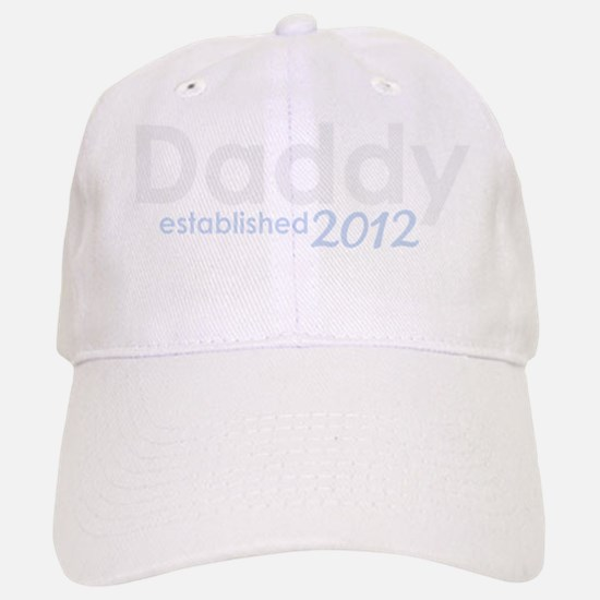 daddy established 2012_dark Baseball Baseball Cap