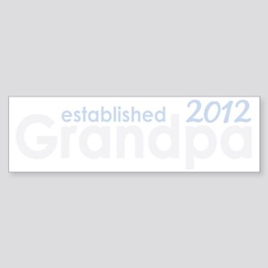 grandpa established 2012_dark Sticker (Bumper)