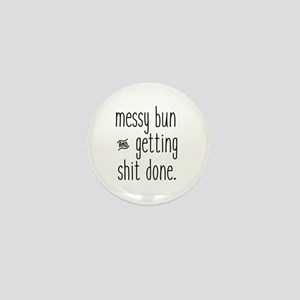 Messy Bun Mini Button (10 pack)