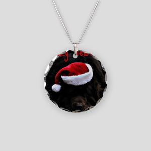 merry newfmas Necklace Circle Charm