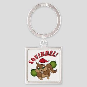 squirrel-1 Square Keychain