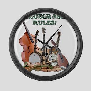 DAmbrosioArts_BluegrassRules Large Wall Clock