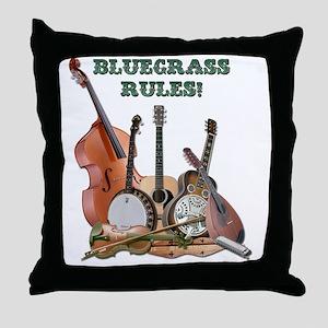 DAmbrosioArts_BluegrassRules_sm Throw Pillow