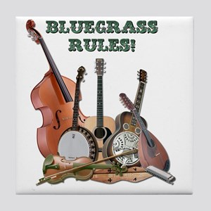 DAmbrosioArts_BluegrassRules_sm Tile Coaster