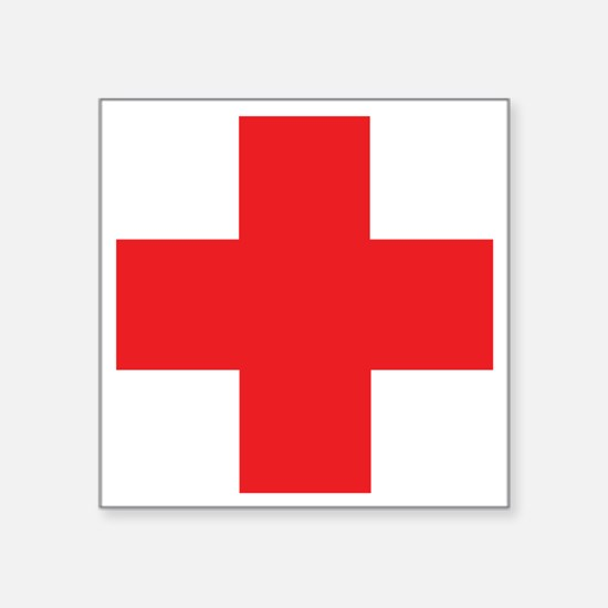 """first_aid Square Sticker 3"""" x 3"""""""