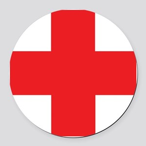 first_aid Round Car Magnet