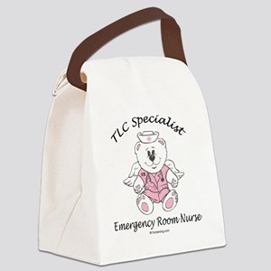 ER-pink-female Canvas Lunch Bag