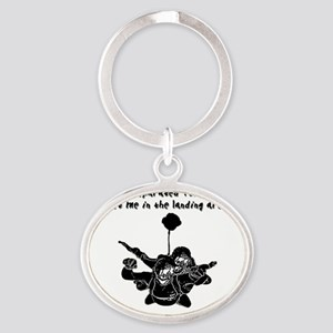 TandemSeperated1 Oval Keychain