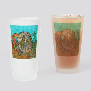 seahorseCastleSquare Drinking Glass