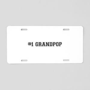 #1 Grandpop Aluminum License Plate