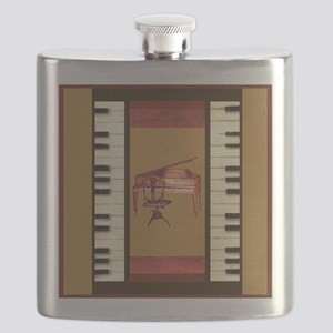 Piano Keys Federal Piano square Flask
