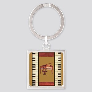 Piano Keys Federal Piano square Keychains