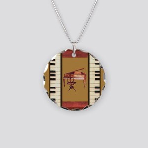 Piano Keys Federal Piano square Necklace