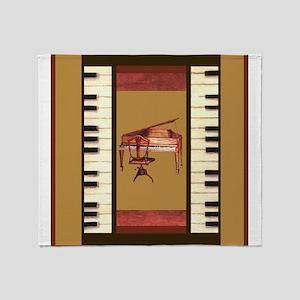 Piano Keys Federal Piano square Throw Blanket