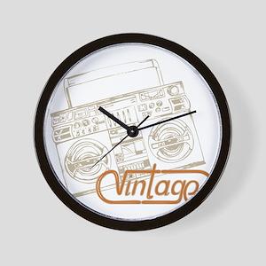 vintage boombox Wall Clock