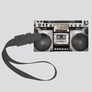 BOOM BOX LAPTOP SKIN Large Luggage Tag