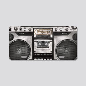 BOOM BOX LAPTOP SKIN Aluminum License Plate