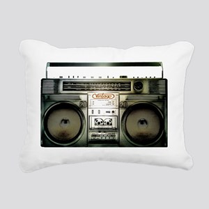 boombox Rectangular Canvas Pillow