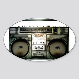 boombox Sticker (Oval)