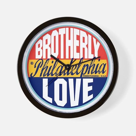 Philadelphia Vintage Label W Wall Clock
