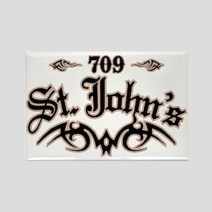 St. Johns 709 Rectangle Magnet