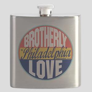 Philadelphia Vintage Label W Flask