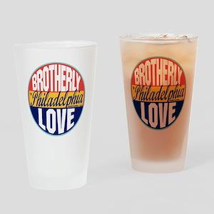 Philadelphia Vintage Label W Drinking Glass