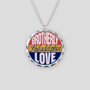 Philadelphia Vintage Label W Necklace Circle Charm