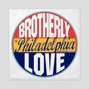 Philadelphia Vintage Label W Queen Duvet